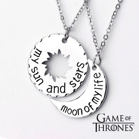 Colar Game Of Thrones- Drogo & Daenerys- Metal