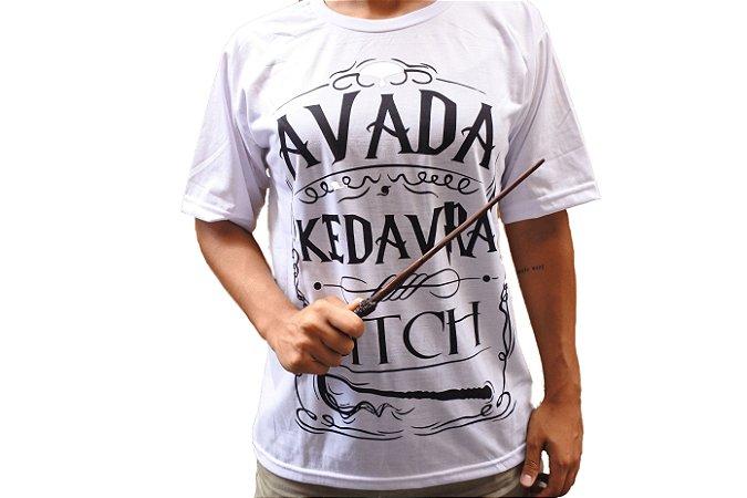 Camiseta Avada Kedavra + Varinha Harry Potter