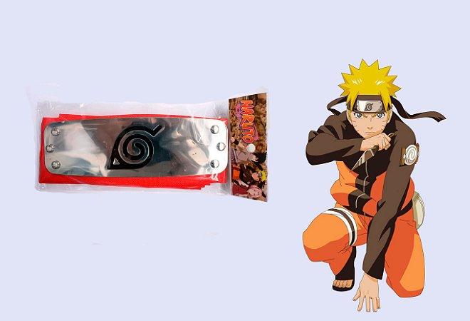 Bandana Vila da Folha- Vermelho- Anime Naruto
