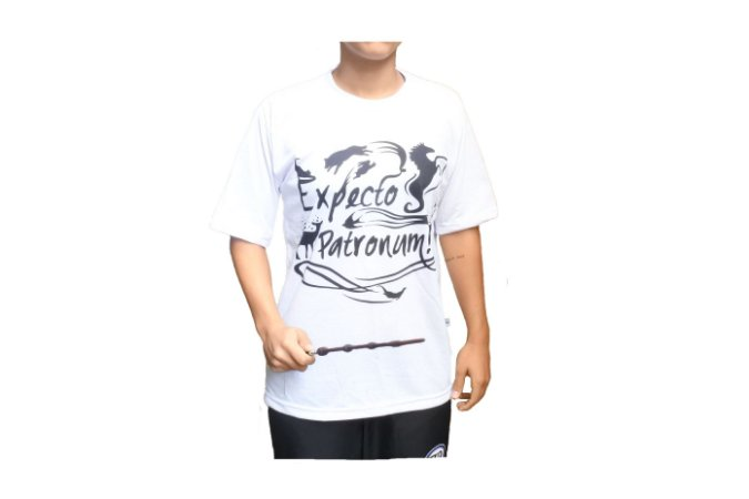 Camiseta Expecto Patronum + Varinha Harry Potter
