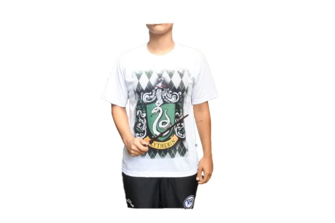 Camiseta Slytherin + Varinha Harry Potter
