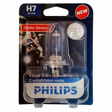 Lampada Super Branca Motos Crystal Vision H7 55w