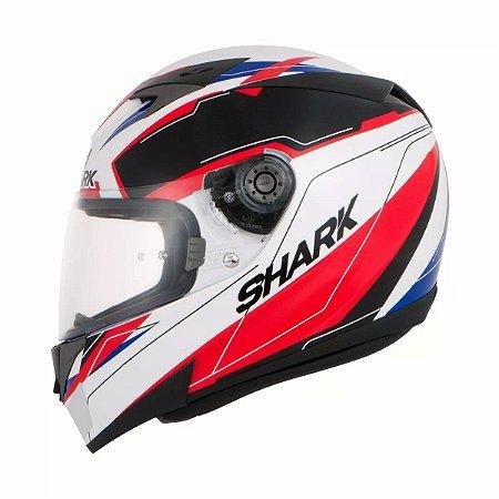 Capacete Motociclista S700 Lab Wkr Branco