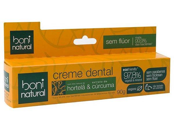 Creme Dental Hortelã e Cúrcuma - Boni Natural