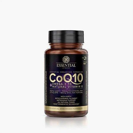 COQ10 ÔMEGA 3 TG E VITAMINA 60CAPS - ESSENTIAL