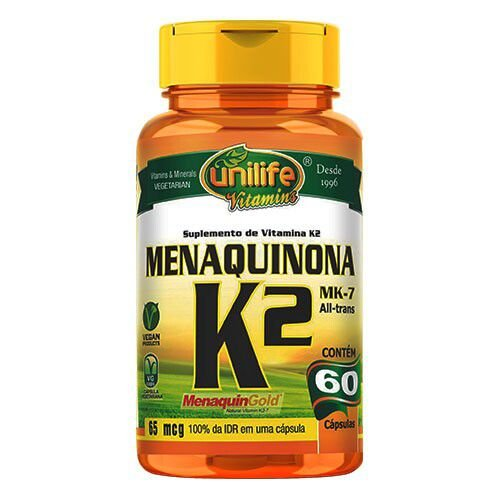 Vitamina K2 Menaquinona - Unilife 60 cápsulas