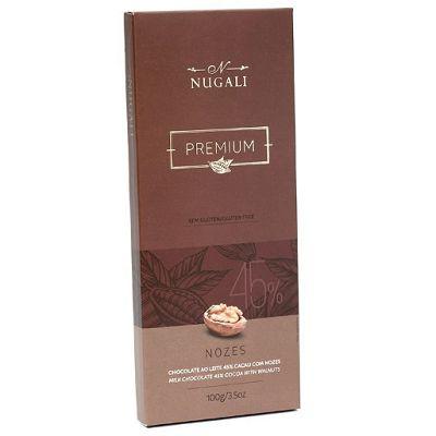 Chocolate ao Leite com Nozes - Nugali 100g
