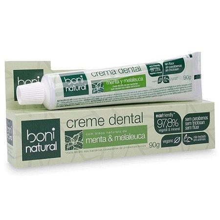 Creme Dental Menta e Melaleuca - Boni Natural