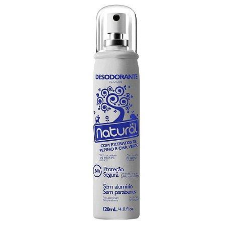 Desodorante com Extratos de Pepino e Chá Verde - Orgânico Natural