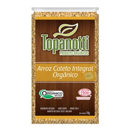 Arroz Cateto Integral Orgânico - Topanotti