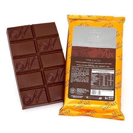 Chocolate Amargo 70% Cacau Zero Açúcar - Nugali