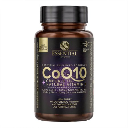 CoQ10 + Omega-3 TG + Natural Vitamin E - Essential Nutrition