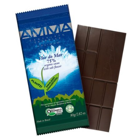 Chocolate Orgânico 75% Cacau Flor Do Mar - Amma
