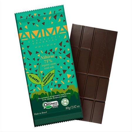 Chocolate Orgânico Nibirus 75% Cacau - Amma