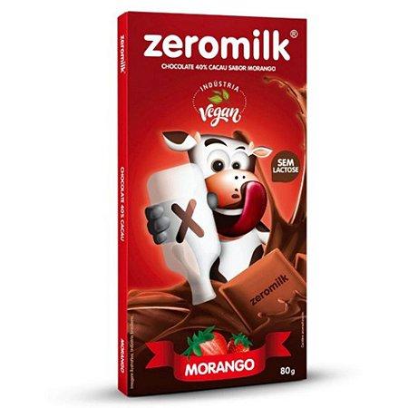 Chocolate Morango 40% Cacau - ZeroMilk