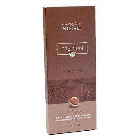 Chocolate Ao Leite Com Avelãs 45% Cacau - Nugali