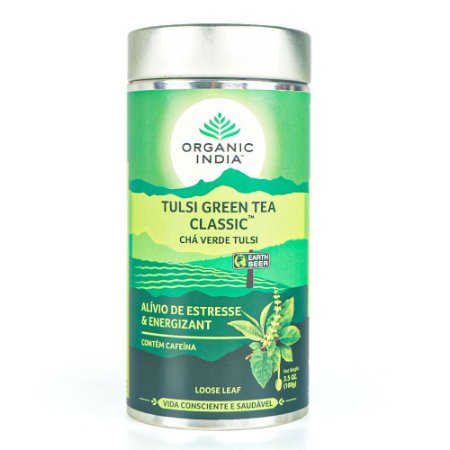 Chá Verde Tulsi Green Tea Classic - Lata - Organic India