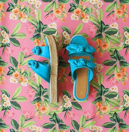 Flatform lacinhos azul
