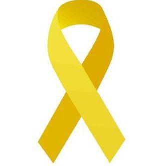 ADESIVO P/ CARRO - *** Laço Amarelo *** ( Pacote c/ 100 unidades)