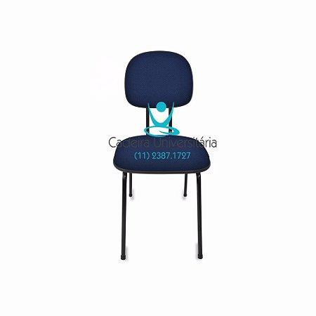 Cadeira Secretaria Anatômica Fixa Pé Palito Injetada