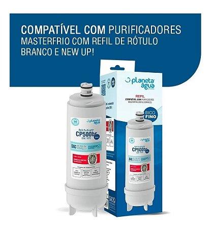 Refil Filtro Purificador Masterfrio CP500br Antigo rotulo Branco 1070