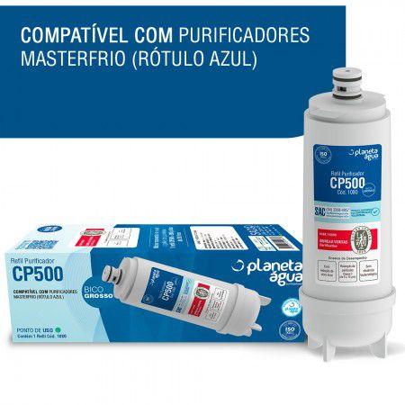 Refil Cp500 para Purificador Masterfrio Rotulo Azul PLaneta Agua 1080