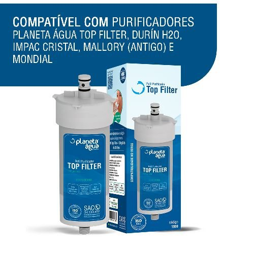 Refil Top Filter Compativel Com Durin H20, Impac Cristal, Mallory E Mondial