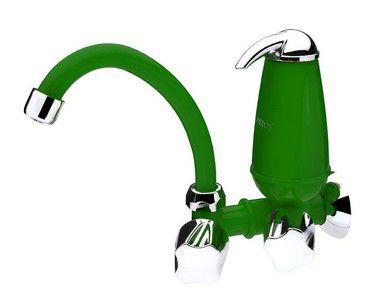 Torneira Parede Cozinha Filtro Acqua E05 Verde Acquabios