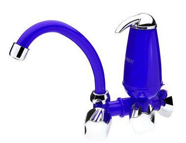 Torneira Parede Cozinha Filtro Acqua E05 Azul Acquabios