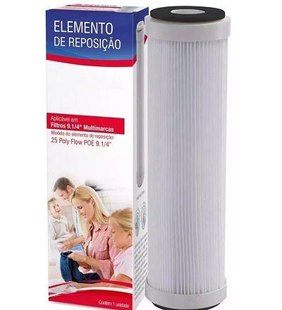 Refil plissado Lavável hf limp 9 1/4 compatível Acqualimp Hidro filtros