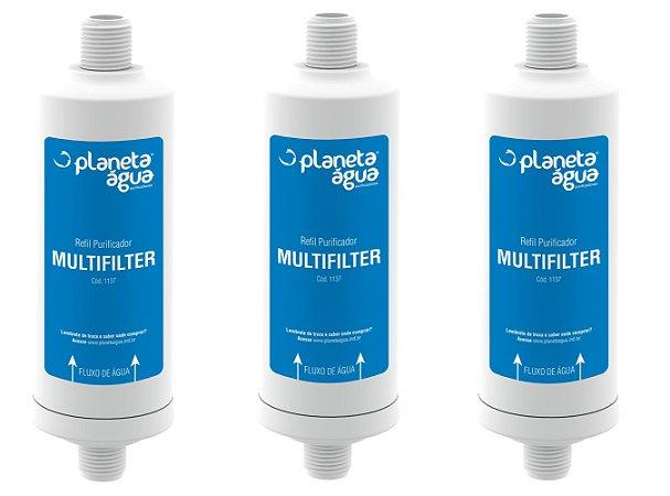 Purificador Filtro de Multifilter 1137 Planeta Agua kit 3 peças