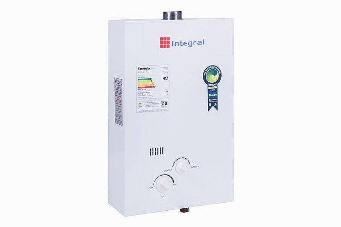 Aquecedor Gas 8 litros GN mec. forcd. Bivolt Branco AG8NM2 AStra