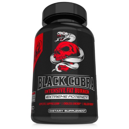 Black Cobra com DMAA (60 cáps) - Lethal Supplements