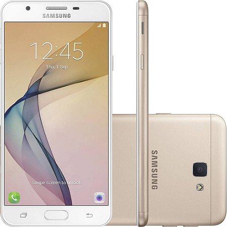 """Samsung Galaxy J7 Prime Dual Tela 5.5"""" 32GB 4G Câmera 13MP - Dourado"""