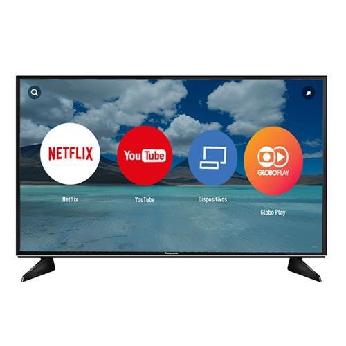 """Smart TV 43"""" 4K Panasonic, Ultra HD, Wi-Fi, 3 HDMI, 3 USB - TC-43EX600B"""