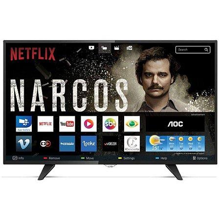 Smart Tv Led Aoc 43 Polegadas Full Hd, Wi-fi Usb Hdmi Le43s5970