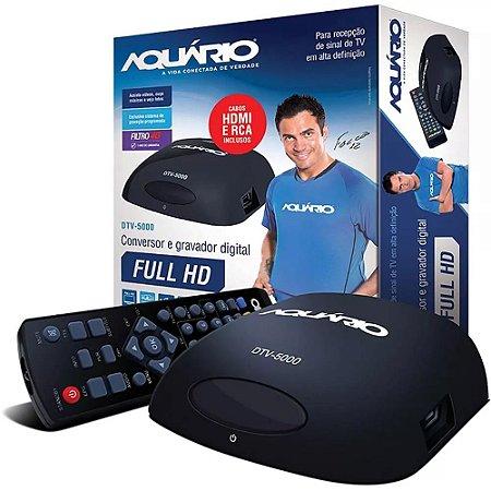 Conversor e Gravador Digital de TV Full HD Aquário DTV 5000 Bivolt