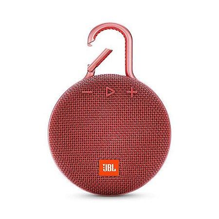 Caixa de Som Bluetooth JBL CLIP3 - Red
