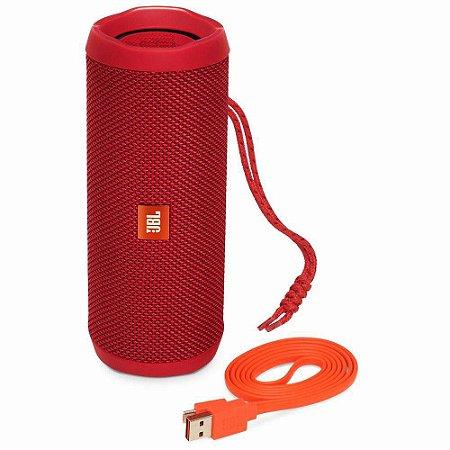 Caixa de Som Bluetooth a prova d'agua JBL FLIP4  - Red