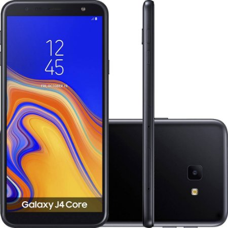 "Samsung Galaxy J4 Core 16GB Dual Tela 6"" Câmera 8MP - Preto"