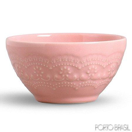 Conjunto de Bowls com 06 Peças em Cerâmica Madeleine Rosa