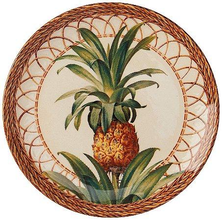 Conjunto de Pratos de Sobremesa com 06 Peças em Cerâmica Coup Pineapple