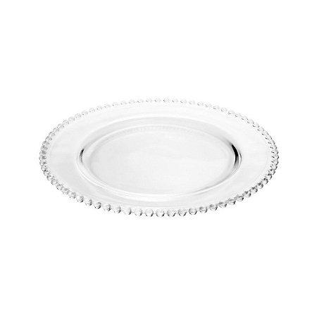 Sousplat em Cristal Pearl Clear 31,5cm - Un