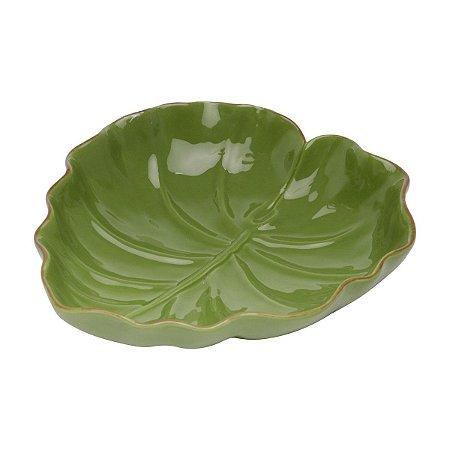 Folha Decorativa de Ceramica Banana Leaf Verde 16x15,5x4,5cm