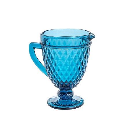 Jarra De Vidro Bico De Abacaxi Azul 1L