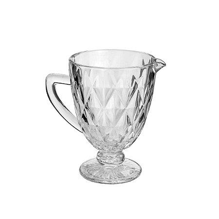 Jarra De Vidro Diamond Transparente 1L