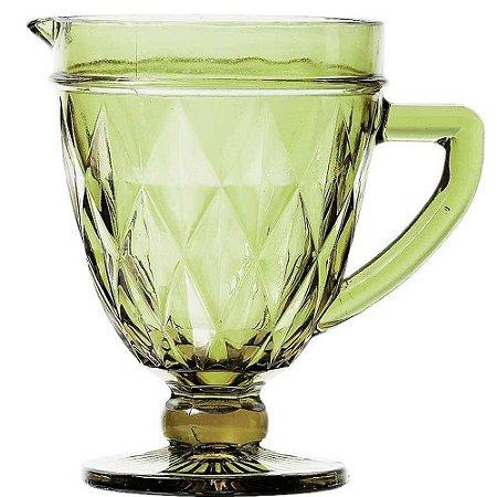 Jarra De Vidro Diamond Verde 1L