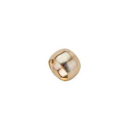 Conjunto 4 Aneis P/ Guardanapo De Aço Circle Dourado 4,5cm