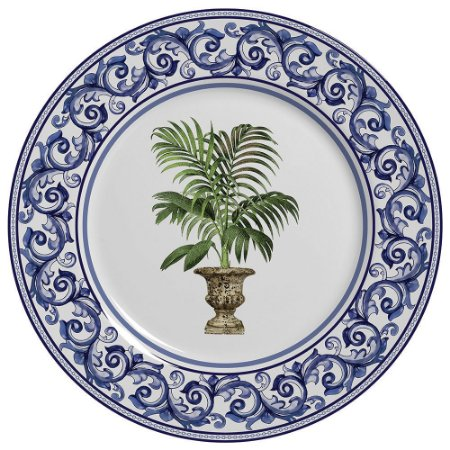 Conjunto de Pratos Rasos com 06 Peças em Cerâmica Imperial