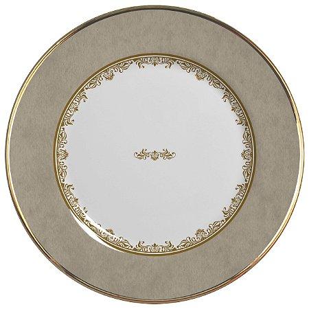 Conjunto de Pratos Rasos com 06 Peças em Cerâmica Montecarlo Fendi